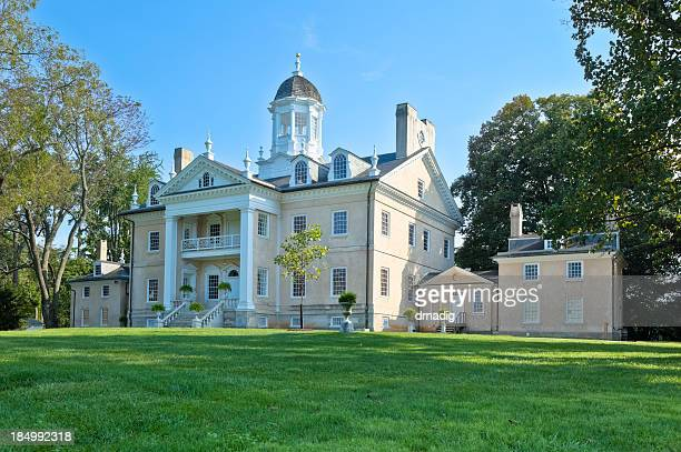 hampton national historic site plantation mansion - baltimore stock photos and pictures