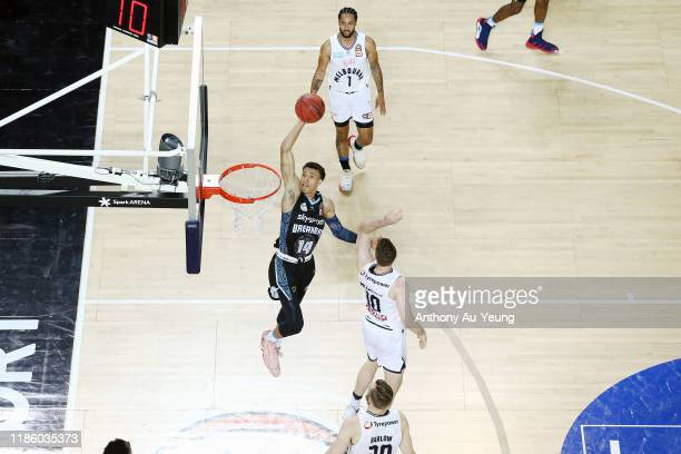 Hampton of the Breakers goes to the basket during the round 6 NBL match between the New Zealand Breakers and Melbourne United at Spark Arena on...
