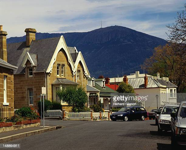 Hampton Street in the historic district of Battery point - Hobart, Tasmania