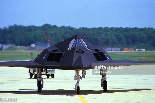 Hampton Virginia AUg 20 1990 F117 Stealth fighter of the 415th TFS takes off enroute to Saudi Arabia as part of Operation Desert Shield The Lockheed...