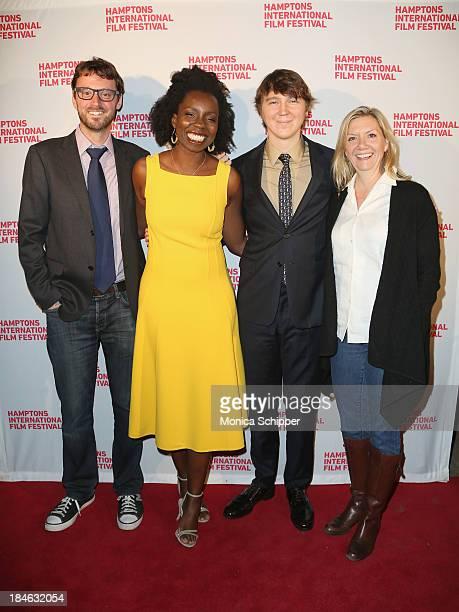 Hamptons International Film Festival Artistic Director David Nugent, actors Adepero Oduye and Paul Dano, and Hamptons International Film Festival...