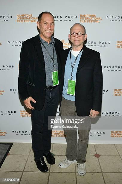 Hamptons International Film Festival Board of Directors Chairman Stuart Match Suna and actor Bob Balaban attend the 21st Annual Hamptons...