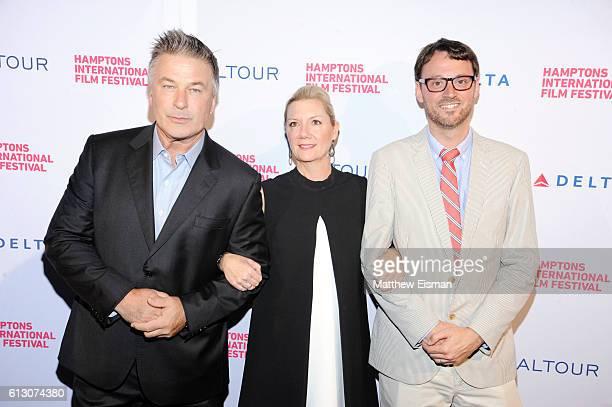 Hamptons International Film Festival CoChairman Alec Baldwin Executive Director of the Hamptons International Film Festival Anne Chaisson and...