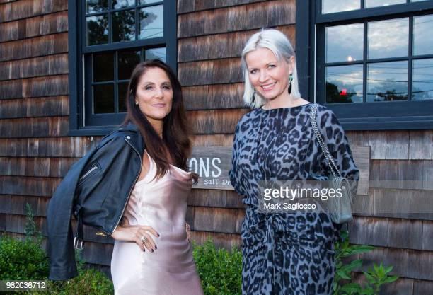 Hamptons Magazine Publisher Lynn Scotti and EditorinChief Anetta Nowosielska attend Homepolish x Hamptons Magazine VIP Dinner With James Peyton at...