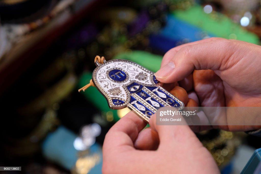 Hamsa amulet : Stock Photo