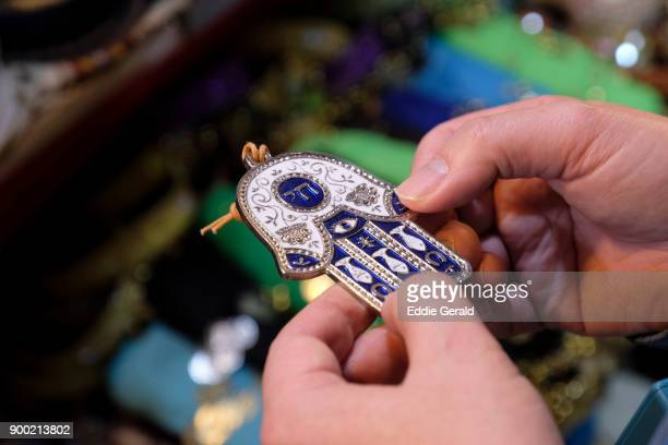 hamsa amulet - hand of fatima stock photos and pictures