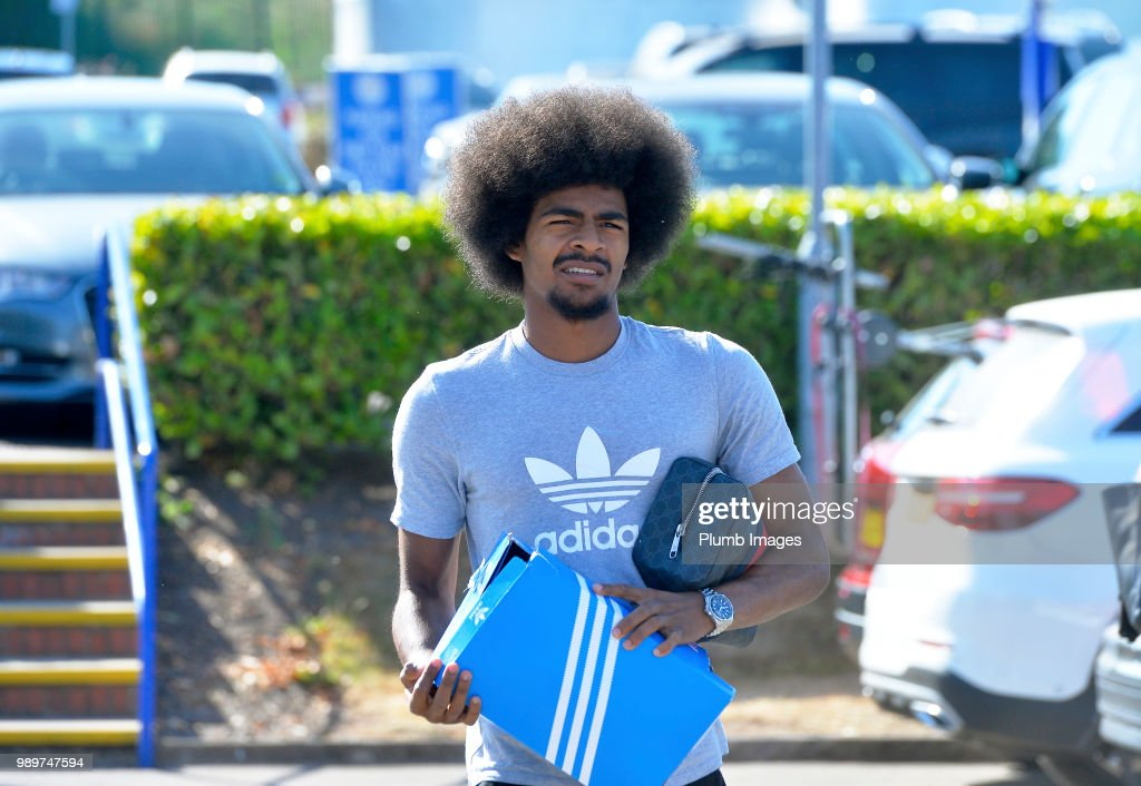 Hamza Choudhury arrives at Belvior Drive as Leicester City Players Return to Pre-Season Training at Belvoir Drive Training Complex on July 02 , 2018 in Leicester, United Kingdom.