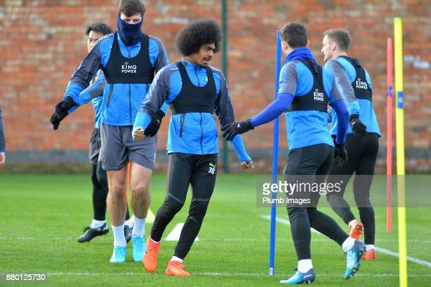 Hamza Choudhury during the Leicester City training session at Belvoir Drive Training Complex on November 27 2016 in Leicester United Kingdom
