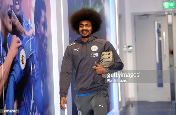 Hamza Choudhury of Leicester City ahead of The Emirates FA Cup Quarter Final tie between Leicester City and Chelsea at King Power Stadium on March 18...