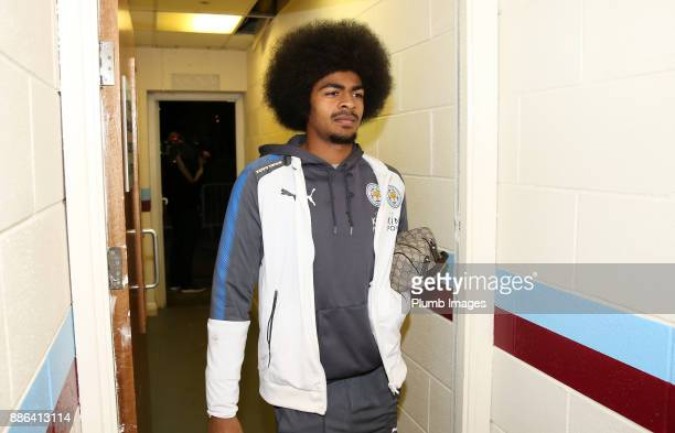 Hamza Choudhury of Leicester City arrives at Glanford Park ahead of the Checkatrade Trophy tie between Scunthorpe United and Leicester City at...