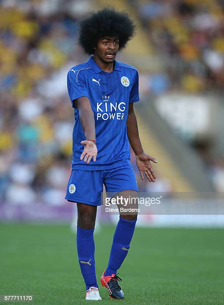 Hamza Choudhury of Leicester City during a preseason friendly between Oxford United and Leicester City at Kassam Stadium on July 19 2016 in Oxford...