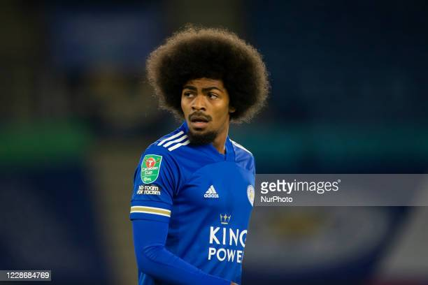 Hamza Choudhury of Leicester City during the Carabao Cup match between Leicester City and Arsenal at the King Power Stadium Leicester England on 23rd...