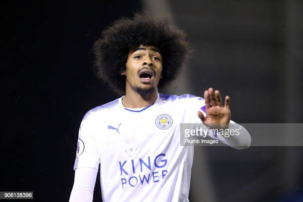 Hamza Choudhury of Leicester City during the Checkatrade Trophy tie between Oldham Athletic and Leicester City at Boundary Park on January 17th 2018...