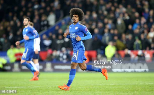 Hamza Choudhury of Leicester City during the Premier League match between Leicester City and Tottenham Hotspur at King Power Stadium on November 28th...