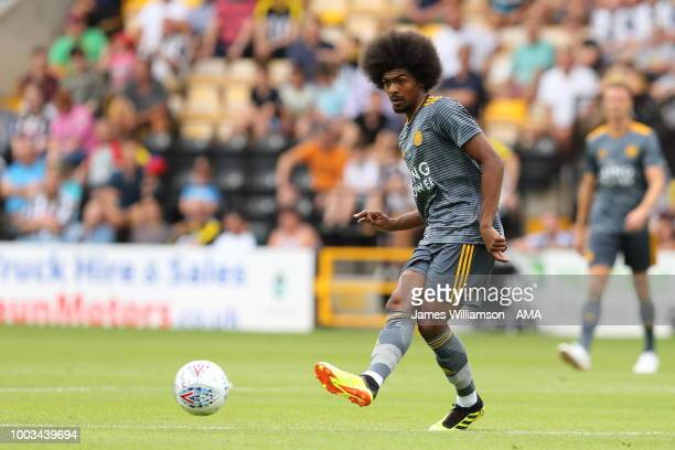 Hamza Choudhury of Leicester City during the preseason match between Notts County and Leicester City at Meadow Lane on July 21 2018 in Nottingham...