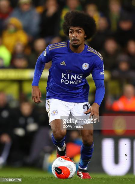 Hamza Choudhury of Leicester City in action during the Premier League match between Norwich City and Leicester City at Carrow Road Final Score...
