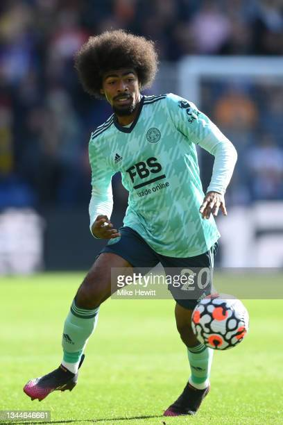 Hamza Choudhury of Leicester City in action during the Premier League match between Crystal Palace and Leicester City at Selhurst Park on October 03,...