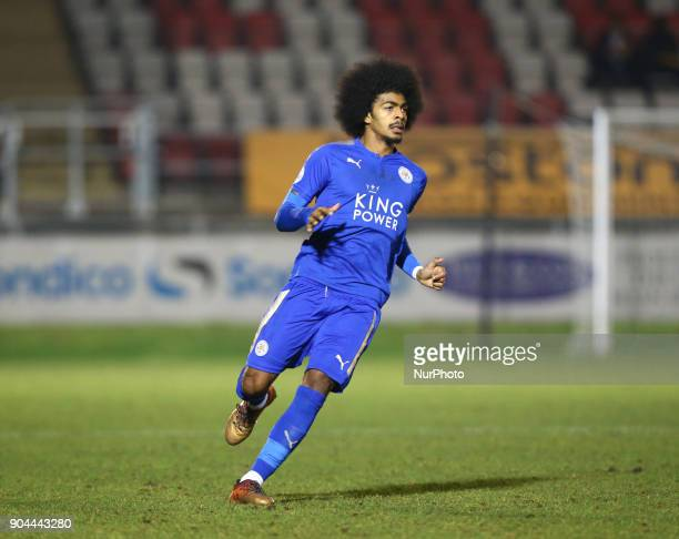 Hamza Choudhury of Leicester City Under 23 during Premier League 2 Division 1 match between West Ham United Under 23s and Leicester City Under 23s at...