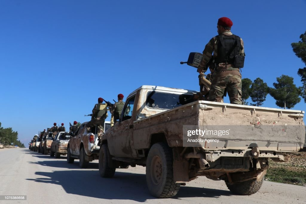 Syrian opposition sends troops to Manbij : News Photo