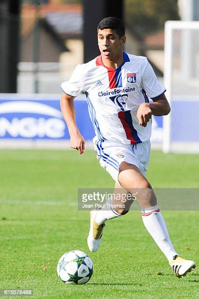 Hamza RAFIA of Lyon during the Youth League match between Lyon and Juventus at Plaine des Jeux de Gerland on October 18 2016 in Lyon France