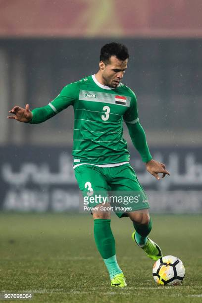 Hamzah Adnan of Iraq in action during the AFC U23 Championship China 2018 Group C match between Iraq and Jordan at Changshu Sports Center on 16...