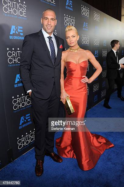 Hamzi Hijazi and actress Jaime Pressly attend the 5th Annual Critics' Choice Television Awards at The Beverly Hilton Hotel on May 31 2015 in Beverly...