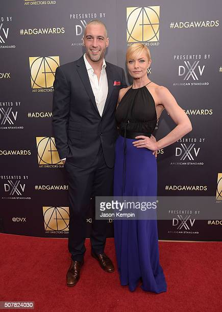 Hamzi Hijazi and actress Jaime Pressly attend the Art Directors Guild 20th Annual Excellence In Production Awards at The Beverly Hilton Hotel on...