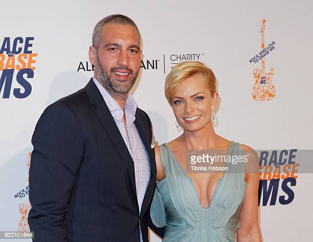 Hamzi Hijazi and Jaime Pressly attend the 23rd annual Race to Erase MS Gala at The Beverly Hilton Hotel on April 15 2016 in Beverly Hills California
