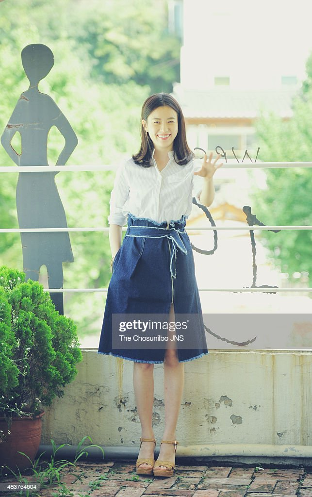 Han Hyo-Ju poses for photographs on August 10, 2015 in
