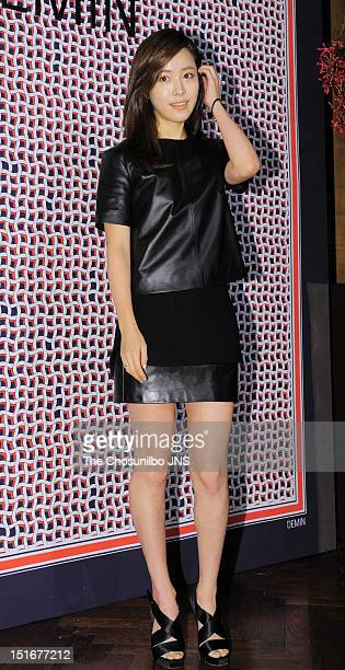 Han JiMin attends 2012 Fall/Winter 'DEMIN' Collection Launch at CGV Cheongdam Cinecity on September 4 2012 in Seoul South Korea