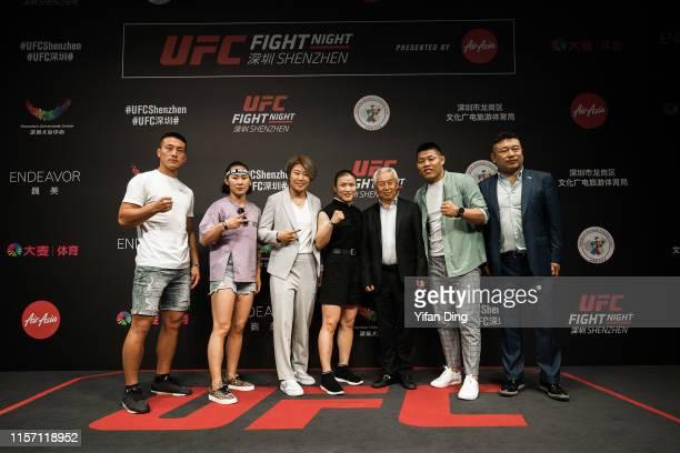 Han Jiuli Vice President of Chinese Boxing Federation UFC fighter Li Jinliang Zhang Chuanliang President of Chinese Boxing Federation UFC fighter Wu...