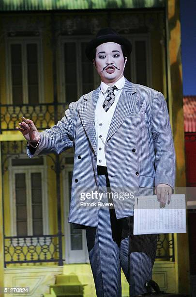 Han Lim performs at the last dress rehearsal of Rossini's 'The Barber Of Seville' at the Opera House on September 7 2004 in Sydney Australia