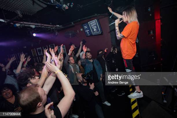 Han Mee of Hot Milk performs on stage at The Key Club during Live At Leeds festival on May 04 2019 in Leeds England