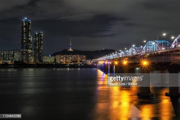 Han River And Namsan Tower At Night