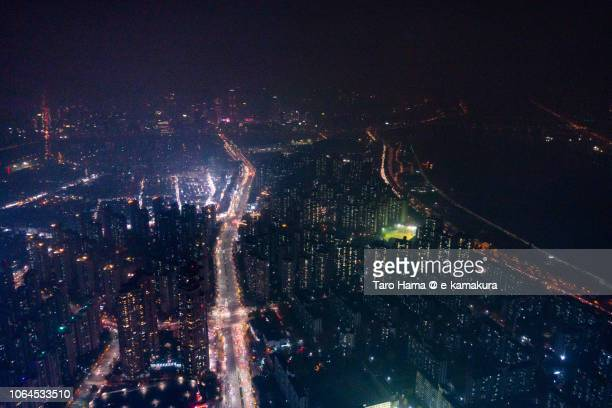 Han River and residential buildings in Seoul city of South Korea