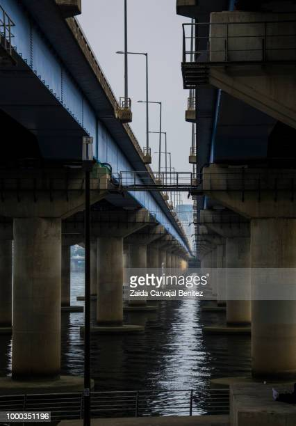 han river cityscape - carvajal stock photos and pictures