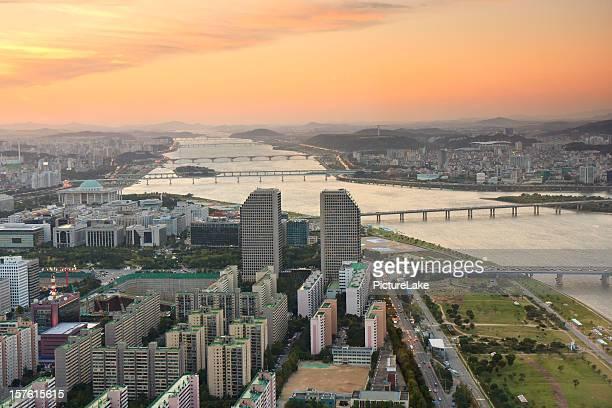 Han River sunset, Seoul, South Korea