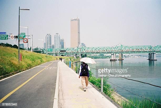 Han River Walking and Bicycle trails, Seoul Korea