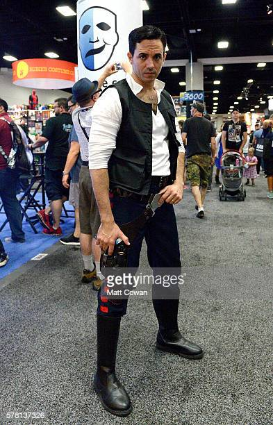 Han Solo cosplayer attends Comic-Con International 2016 preview night on July 20, 2016 in San Diego, California.