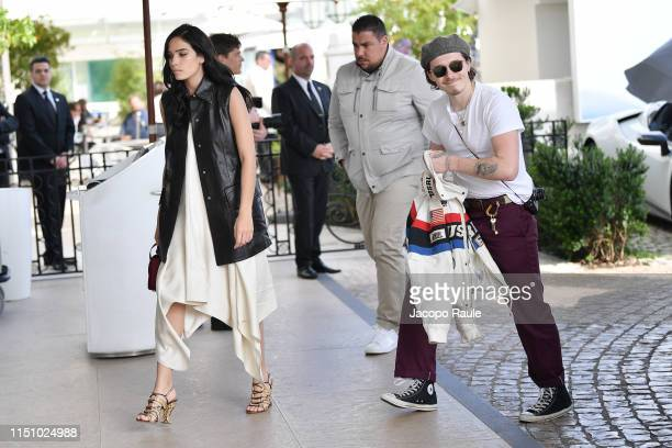 Hana Cross and Brooklyn Beckham are seen during the 72nd annual Cannes Film Festival at on May 22 2019 in Cannes France