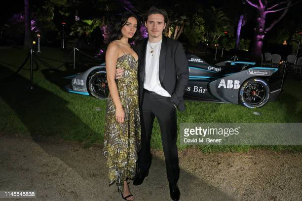 Hana Cross and Brooklyn Beckham attend a private dinner hosted by Alejandro Agag to celebrate the World Premiere of Formula E documentary And We Go...