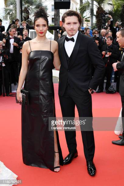 Hana Cross and Brooklyn Beckham attend the screening of Once Upon A Time In Hollywood during the 72nd annual Cannes Film Festival on May 21 2019 in...