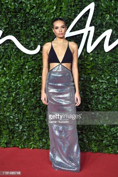 Hana Cross arrives at The Fashion Awards 2019 held at Royal Albert Hall on December 02 2019 in London England
