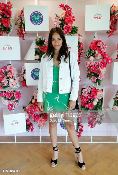 Hana Cross at the Evian suite at The Championships at Wimbledon on July 2 2019 in London England