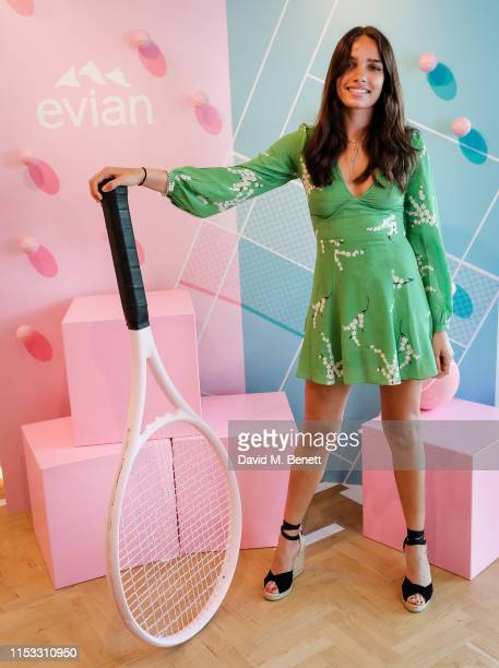 July 02: Hana Cross at the Evian suite at The Championships at Wimbledon on July 2, 2019 in London, England.
