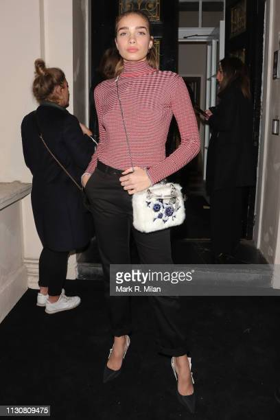 Hana Cross attending a Christian Dior party during LFW February 2019 on February 19 2019 in London England