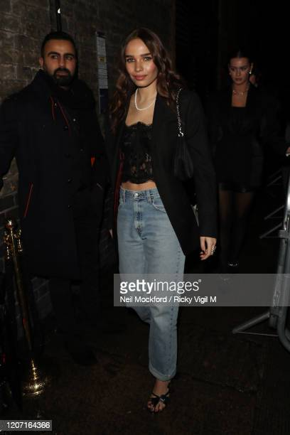 Hana Cross attends a Warner Records BRIT Awards 2020 after party at Chiltern Firehouse on February 18, 2020 in London, England.