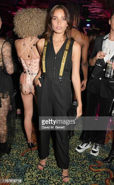Hana Cross attends the Agent Provocateur AW19 campaign launch party in collaboration with Sink The Pink and CIROC Vodka at Annabel's on September 12...