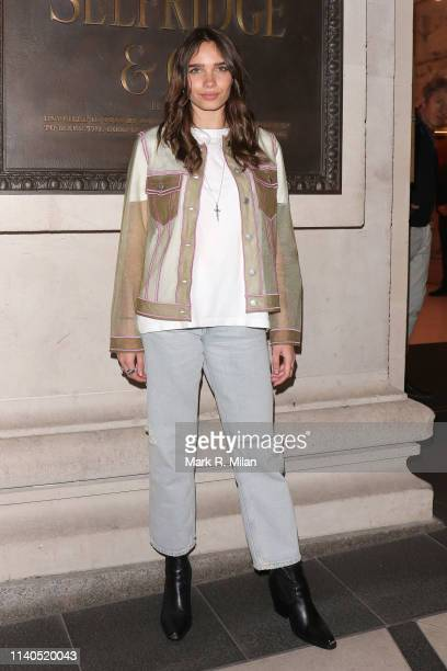Hana Cross attends the Brasserie of light Selfridges for the Pat McGrath A Technicolour Odyssey launch party on April 04 2019 in London England