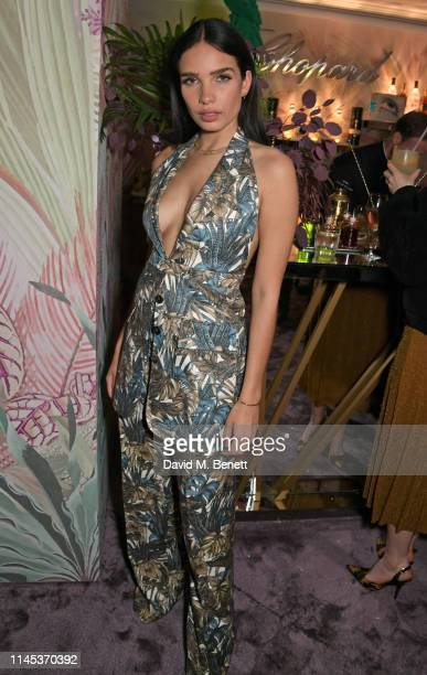 Hana Cross attends the Chopard Gentleman's Evening during the 72nd Annual Cannes Film Festival at the Chopard Rooftop at The Hotel Martinez on May 21...